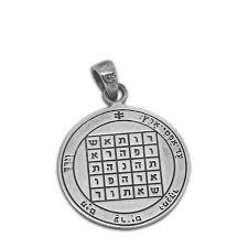 king solomon seals livelihood silver pendant