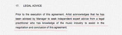 music management contract artist management the contract musiclaw