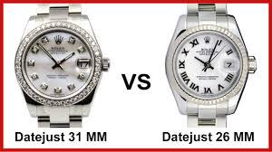 Rolex Datejust Comparison Customized 31 Mm Model Vs Factory 26 Mm Model