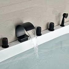 handheld bathtub sprayer waterfall bathroom tub faucet brushed nickel bathtub faucet handheld shower sprayer handheld bathroom