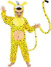 Generique - Marsupilami Animal Costume for Children Yellow / Black ...