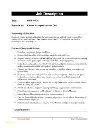Executive Chef Resume Template Or Cook Job Description Resume Chef