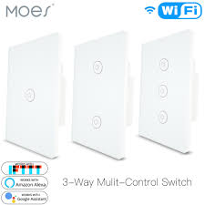 Multi Light Switch Us 21 99 30 Off 3 Way Wifi Smart Multi Control Light Switch Work With Alexa Google Home No Hub Required Smart Life App Remote Control In Smart