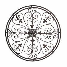 Wall Art Design Ideas: Tuscan Wrought Round Metal Wall Art Iron With Regard  To Tuscan
