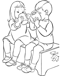 Small Picture friendship coloring pages for preschool Coloring Pages