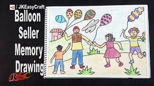 balloon seller memory drawing how to draw project for kids jk easy craft 160 you