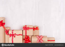 Gifts Background Celebration Gifts Background Different Presents Craft Paper