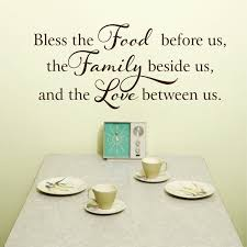 kitchen wall decal kitchen decor kitchen signs bless this food wall decal before us vinyl wall decal kitchen decor wall art
