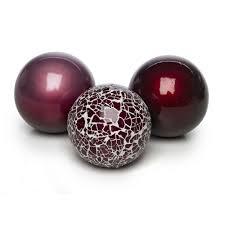 Decorative Sphere Balls Wilko Mosaic Decorative Ceramic Balls x 60 Purple Ornaments 33