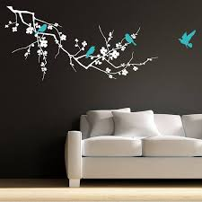 birds on branch wall stickers