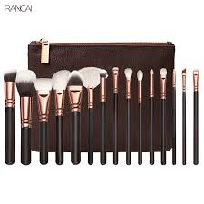 full makeup brush set. 15pcs pink makeup brushes set pincel maquiagem powder eye kabuki brush complete kit cosmetics beauty tools with leather case-in underwear from mother \u0026 kids full