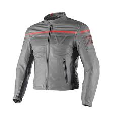 dainese blackjack leather jacket grey blk