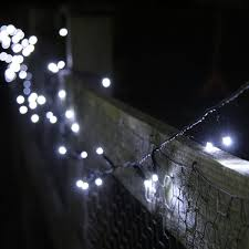 100 White LED Solar Powered Garden Fairy Lights by Lights4fun:  Amazon.co.uk: Garden & Outdoors