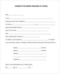 Child Travel Consent Letter Template Ksdharshan Co