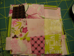 "A Quilting Jewel: Tutorial - Charmingly Crazy Nine Patch Quilt & Square up your crazy nine patch to 3½"" square. You can square up the nine  patch at a slight angle if you want the block to look even more interesting. Adamdwight.com"