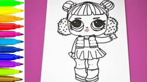 Lol Surprise Doll Coloring Page Coloring Pages Lol Surprise Youtube