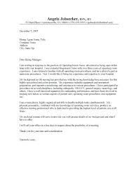 Cover Letter Nursing