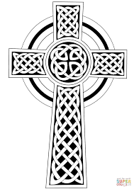 Printable Coloring Pages coloring pages of the cross : Celtic Cross coloring page | Free Printable Coloring Pages