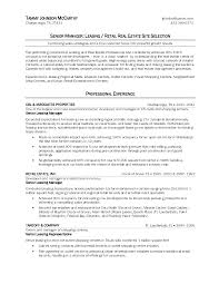 Resume Sample For Real Estate Agent And Real Estate Site Selection