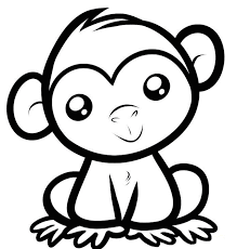Small Picture Monkey Coloring Page Monkey Coloring Page nebulosabarcom