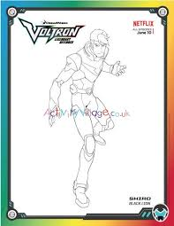Do you like this video? Voltron Legendary Defender Colouring Page Shiro