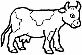 Animal Printable Coloring Pages Silas Learns Animals Cow