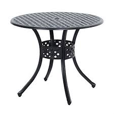 round metal 33 inch outdoor patio table