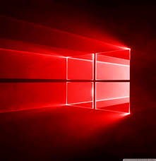 Windows 10 Red Wallpaper 4k 2262102 Hd Wallpaper