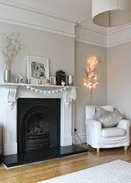 gorgeous modern country living room farrow and ball pavilion gray absolutely love the white mantle and that black fireplace