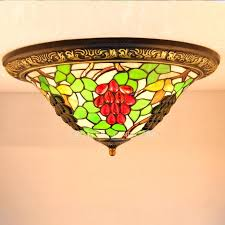 stained glass ceiling fan. Flush Mount Stained Glass Ceiling Light Lovely Style Fixtures Of Unique Grape Home Fan
