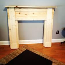 building a faux fireplace mantel still needs paint