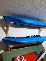 minimalist how to hang kayak in garage