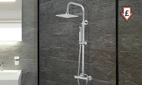 thermostatic shower system thermostatic shower system goods grohe euphoria thermostatic shower system with tub spout