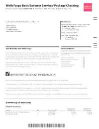 Wells Fargo Statement Of Account Form In 2019 Statement