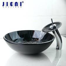 glass bathroom sinks best modern tempered glass basin bowl sinks vessel hand painting basins with brass