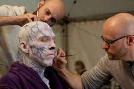 barrie gower right and tristan versluis apply makeup to the night king for hbo s