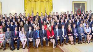 Image result for trump with white interns images