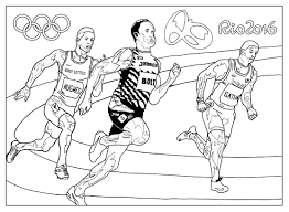 Olympic And Sport Coloring Pages For Adults