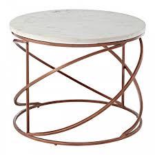 mava copper coffee table front view