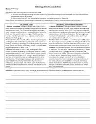 technology thematic essay outlines the printing press the