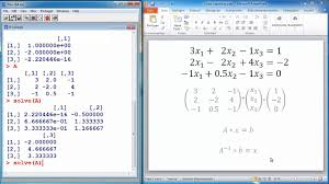 r tutorial 7 solving systems of linear equations statistical programming age r