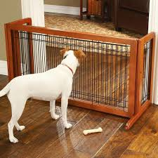 freestanding hardwood dog gates