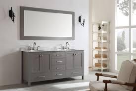 72 eviva aberdeen transitional gray bathroom vanity double square sinks