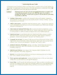 Scholarship Resume Format Inspiration Scholarship Resume Objective Administrativelawjudge