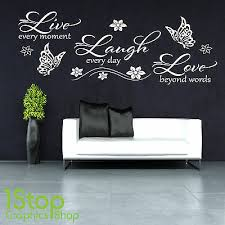 live laugh love wall sticker bedroom