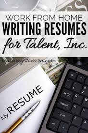 take your resume writing talent to talent inc
