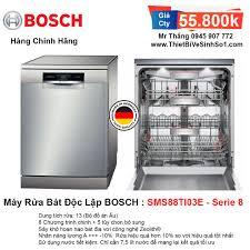 Máy Rửa Bát BOSCH SMS88TI03E Serie 8   Tổng Kho Bếp Chính Hãng Hà Nội