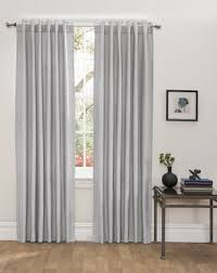 Wide Window Treatments textured light grey blackout thermallined insulated backtabrod 2220 by xevi.us