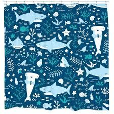 shark shower curtain giraffe
