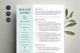 Resume Cover Letter Template Resume Templates Creative Market